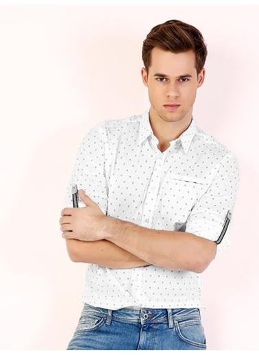 Colin's Puantiyeli Gömlek Beyaz